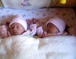 Twins sharing Crib